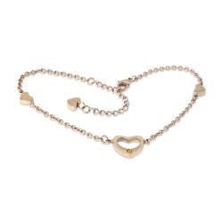 Heart Anklet Rose Gold (SS)