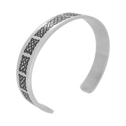 Celtic Knot Cuff Wide (SS)